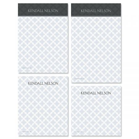 Quatrefoil Note Pad Set