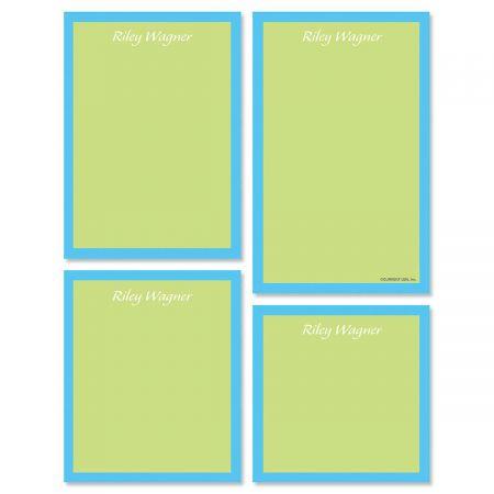 Bordered Hues Note Pad Set