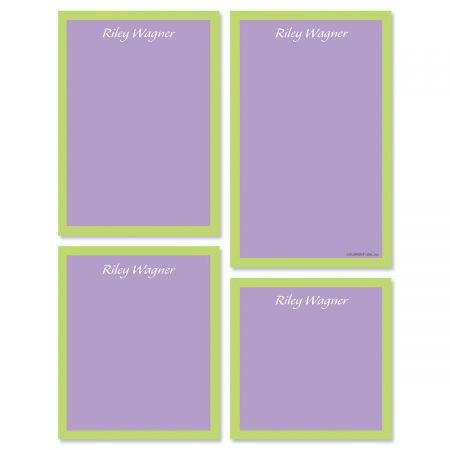 Bordered Hues Note Pad Set-Purple-609260B