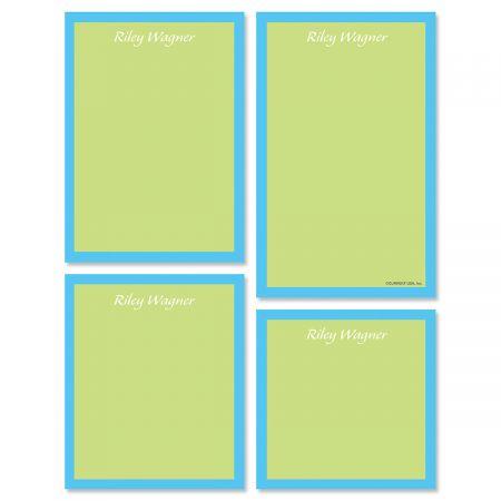 Bordered Hues Note Pad Set-Green-609260C