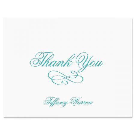 Tiffany Thank You Cards-Aqua-609269A