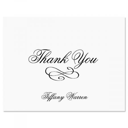 Tiffany Thank You Cards-Black-609269C