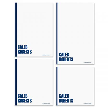 Stylin' Note Pad Set-Dark-Blue-609286B