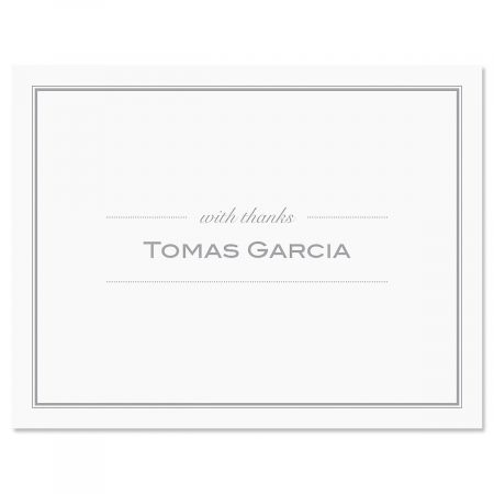 Refined Thank You Cards-Grey-609291C