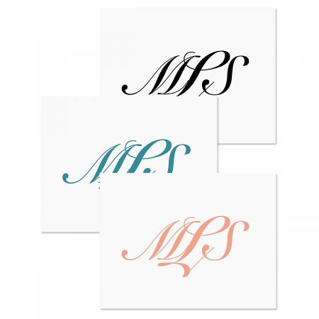 Elegant Monogram Note Cards