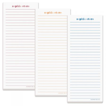 Color Wash Lined List Pad