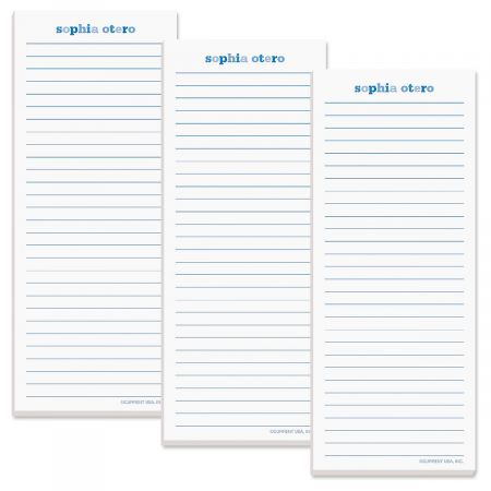 Color Wash Lined List Pad-Blueberry-609299A