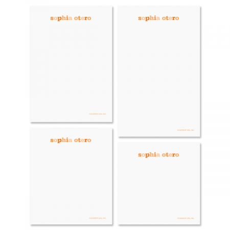 Color Wash Note Pad Set-Tangerine-609300B