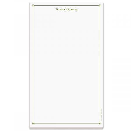 Atticus Note Pad-Green-609314B