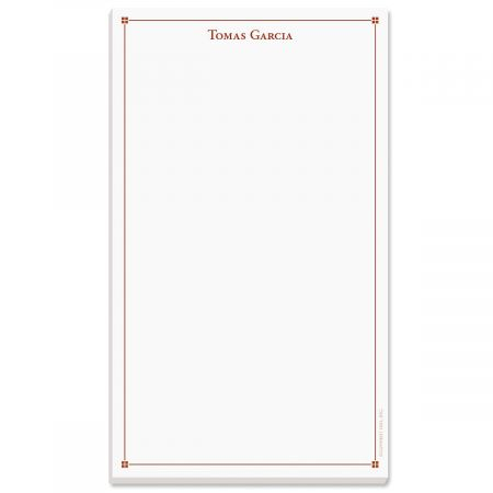 Atticus Note Pad-Red-609314C