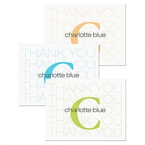 Alpha Beta Thank You Note Cards