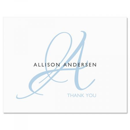 Initial Thank You Note Cards