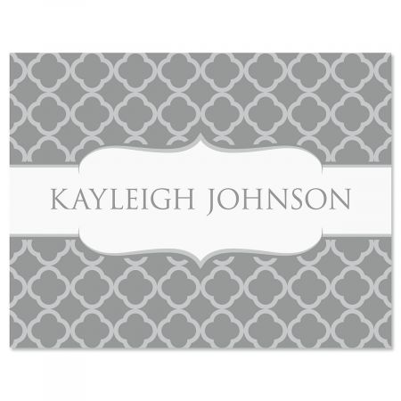 Renaissance Note Cards-Gray-611448B