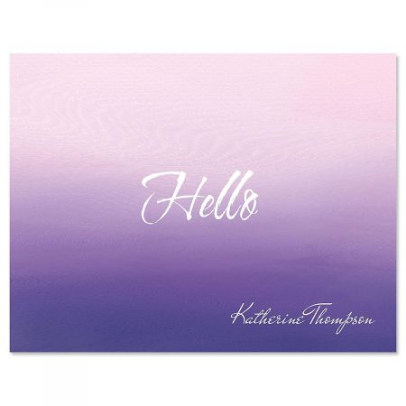 Orchid Ombre Note Cards