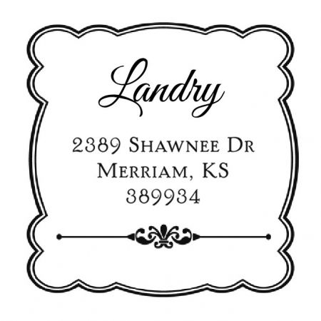 Framed Details Custom Address Stamp