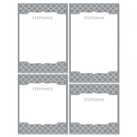 Renaissance Note Pad Set-Gray-613873B
