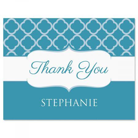 Renaissance Thank You Cards-Teal-613875A