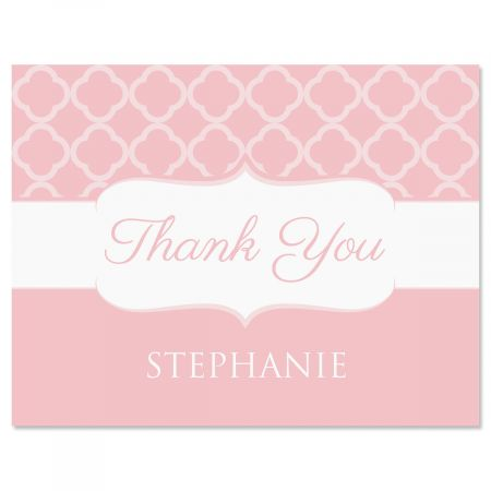 Renaissance Thank You Cards-Pink-613875E