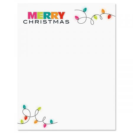 Christmas Lights Letter Papers