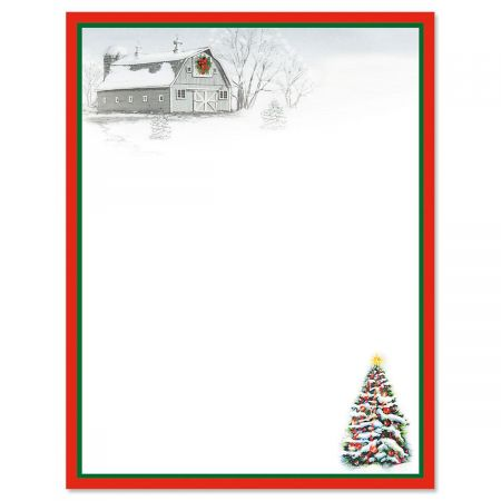 Winter Barn Letter Papers