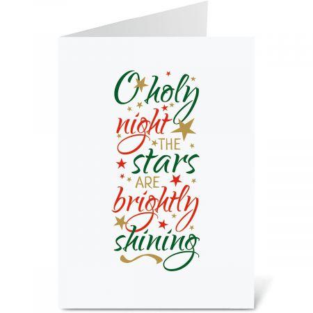 O Holy Night Christmas Cards