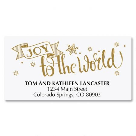 Joy to the World Deluxe Address Labels