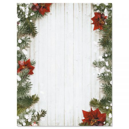 Poinsettia Pine Letter Papers