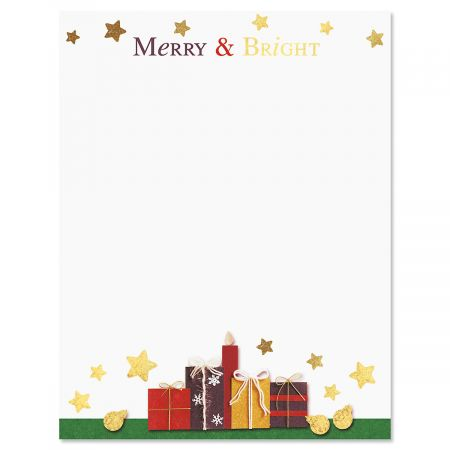 Merry and Bright Christmas Letter Papers