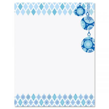 Snowflake Ornaments Letter Papers