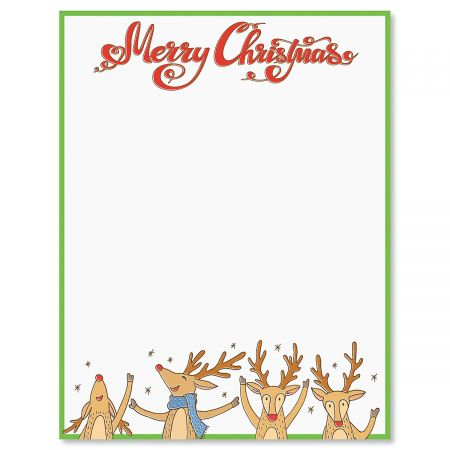 Reindeer Letter Papers
