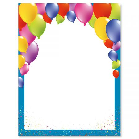 Birthday Balloons Letter Papers