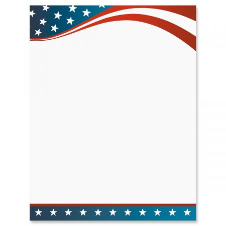 Patriotic Letter Papers
