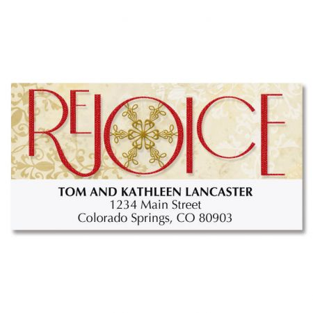 Rejoice Snowflake Deluxe Address Labels