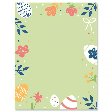 Egg and Flowers Letter Papers