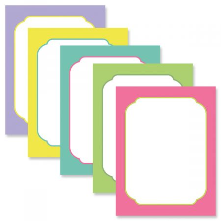 Rainbow Borders Letter Papers (5 Colors)