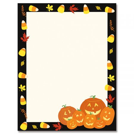 Halloween Jack Stack Letter Papers