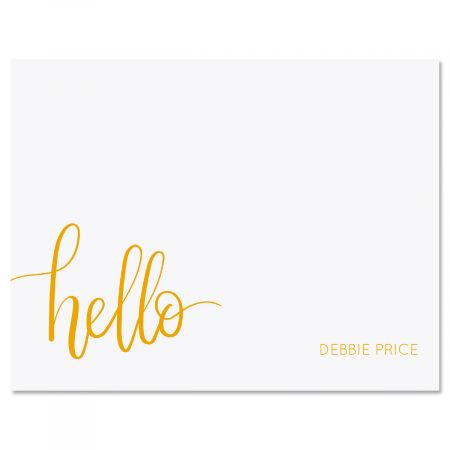 Handwritten Hello Note Card