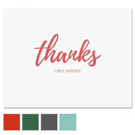 Simple Thanks Note Cards