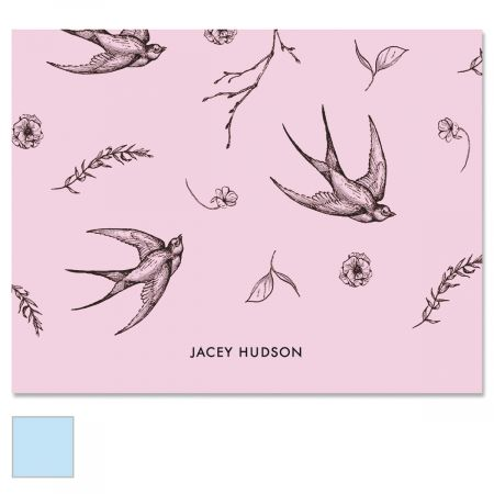 Swallow Pattern Note Cards