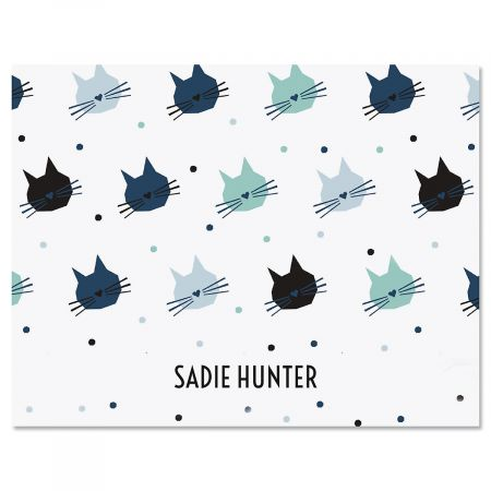 Cat Pattern Note Cards