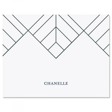 Diamond Lines Note Cards