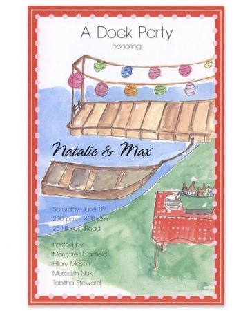 Party Dock Invitation