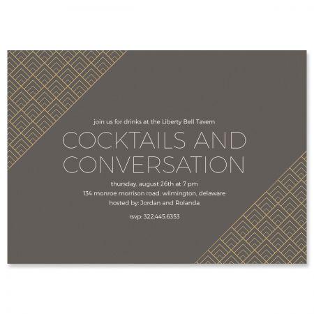 Brilliant Triangle Scallop Invitations