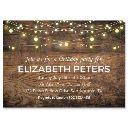 Rustic Lights Invitations