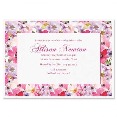 Bountiful Floral Invitations