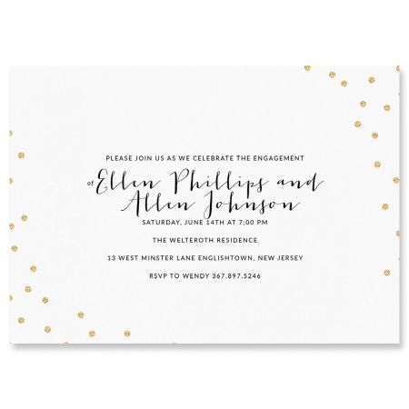 Glitter Confetti Invitations