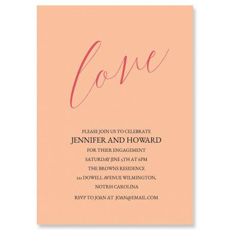 Love Engagement Invitations