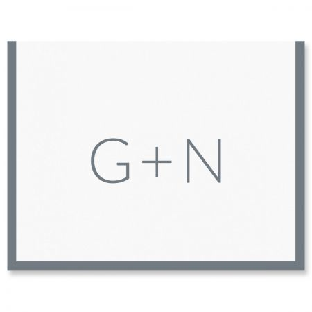 Bold Modern Framed Note Card