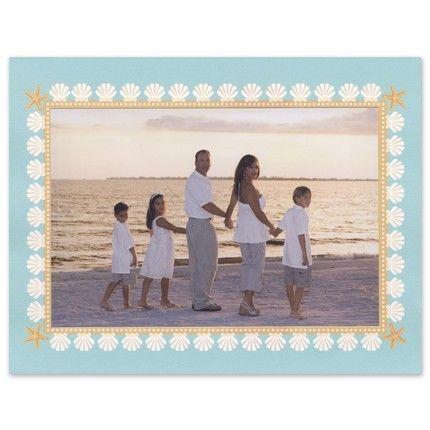 Seashell Mounted Photo Card