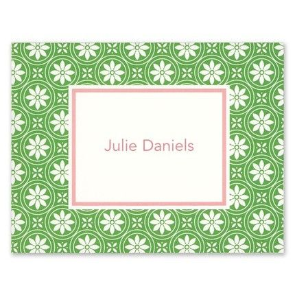 Medallion Green Note Card